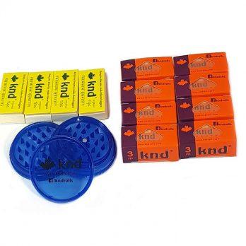Pachet 8 role de 3m + 4 filtre +1 grinder albastru